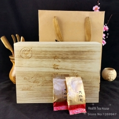 High Quality Dahongpao Tea Wood Box Packing, Chinese Fresh Oolong Da Hong Pao Flower Fragrance Big Red Robe 256g best oolong tea