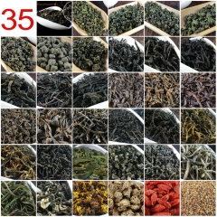 35 Different Flavors Chinese Tea including Oolong Puer Black Green Herbal Flower Tea Health Care Food Gift 209.2g Chinese Cha