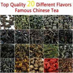 20 Different Flavors Organic Chinese Tea Includes Milk Oolong Puer Herbal Flower Black Green Tea Help Slimming Healthy Gift premium quality tea