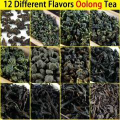 12 Different Flavors Oolong Teas include Milk Oolong, Tieguanyin, Ginseng Oolong, Dahongpao, Dancong, Fried Tea, 93g in Total premium quality tea