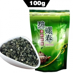 Top Grade Spring Biluochun Chinese Tea Green Tea, Fresh Bi Luo Chun Organic Food For Weight Loss Bag Packaging 100g chinese beat green tea organic tea