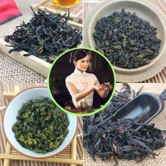 Excellent Taste 8 Bags Of 4 Flavor Including Baking Tieguanyin Oolong + Tie Guan Yin + Dahongpao + Lapsang Souchong Black Tea  the best tea