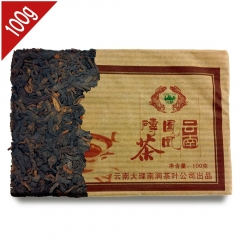 Tulin 2006 Year Shu Puer Phoenix Brick Teas Yunnan Ripe Pu erh Big Leaves Drying Cha 100g PB14 Aged puerh best organic tea