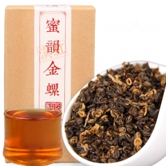 2019 Chinese Tea Dianhong Honey Rhyme Gold Screw Black Tea Red Teas 200g/box