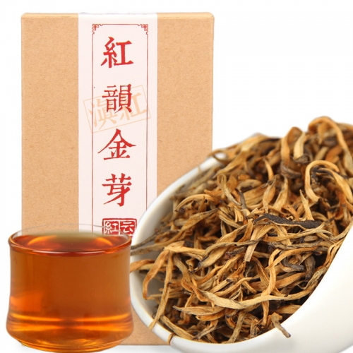 2019 China Cha Dianhong Gold Bud Red Rhyme Jin Ya Black Tea Red Teas 70g/box