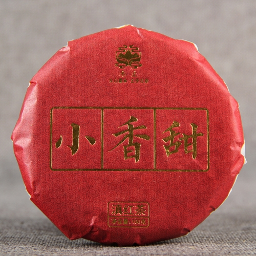 "2019 Yunnan High Mountain Ancient Tree Black Tea ""Xiao Xiang Tian"" Sweet Red Tea Cake, with Floral Aroma 100g"