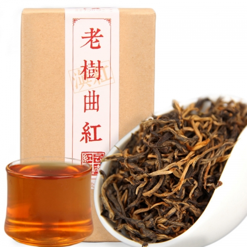 "2019 Yunnan Black Tea ""Lao Shu Qu Hong"" Old Tree Tea Red Dianhong Chinese Tea 80g/box"