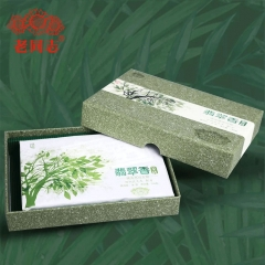 Haiwan 2019 High Quality Raw Puer Emerald Use Ancient Trees Material Sheng Puer Brick 250g Box Tea