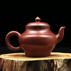 Wang Ping Personalized Teapot Filter Handmade Purple Clay Customized Gift Huanglong Mountain Dahongpao Mud Tea Pot 230ml