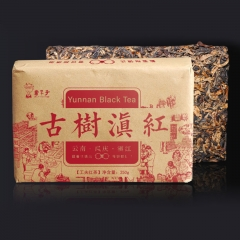 Yunnan Black Tea with Honey Sweet Notes Fengqing Dianhong Tea Red Brick 250g
