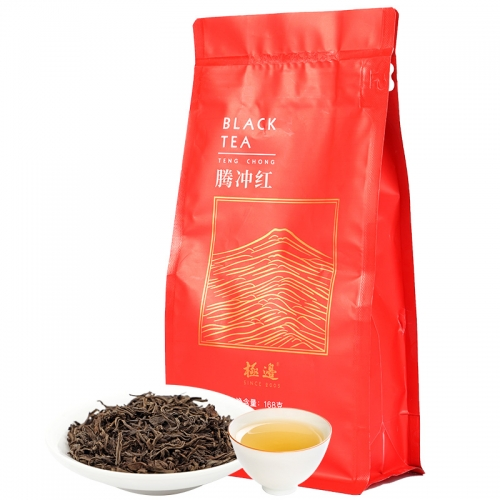 Jibian High Mountain Black Tea loose leaf from Yunnan Tengchong Dianhong Tea Red China Cha 168g